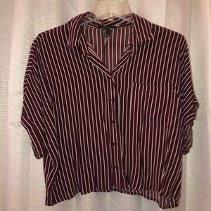 Maroon short sleeve button down